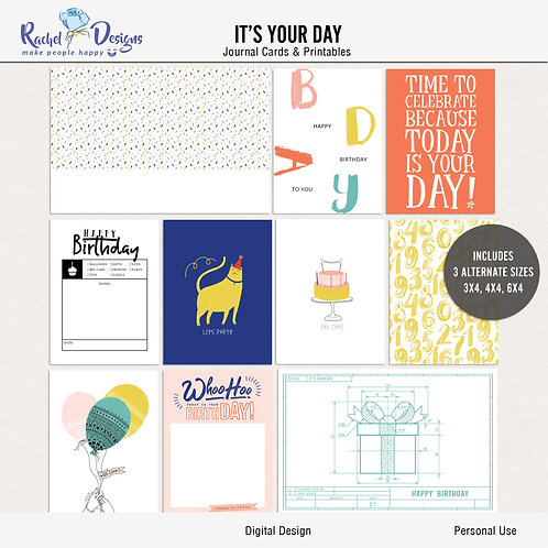 It's Your Day - Journal cards