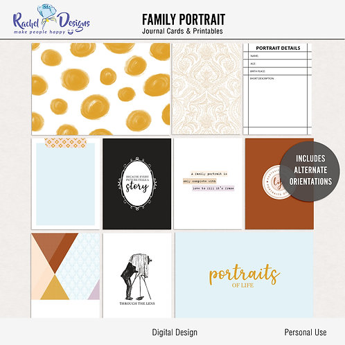 Family Portrait - Journal cards