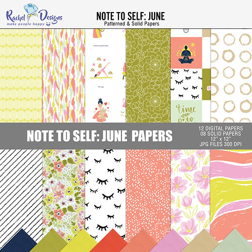 Note To Self June - Papers