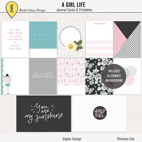 A Girl Life - Journal cards