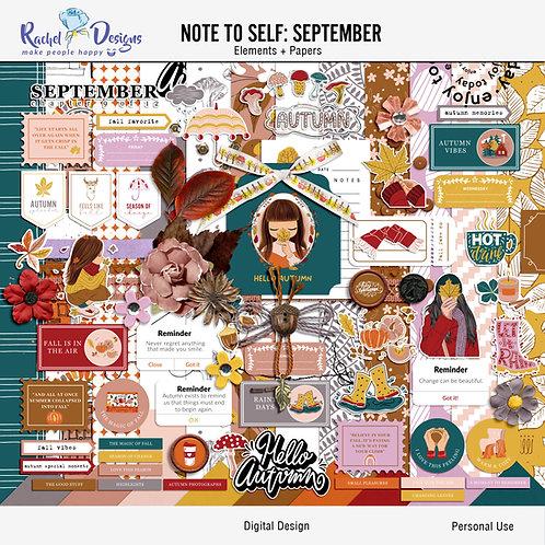 Note To Self September - Kit