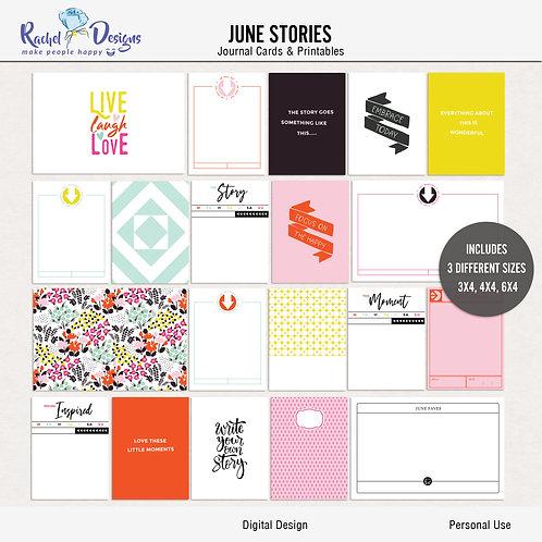 June Stories - Journal cards