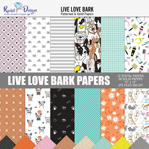 Live Love Bark- Papers