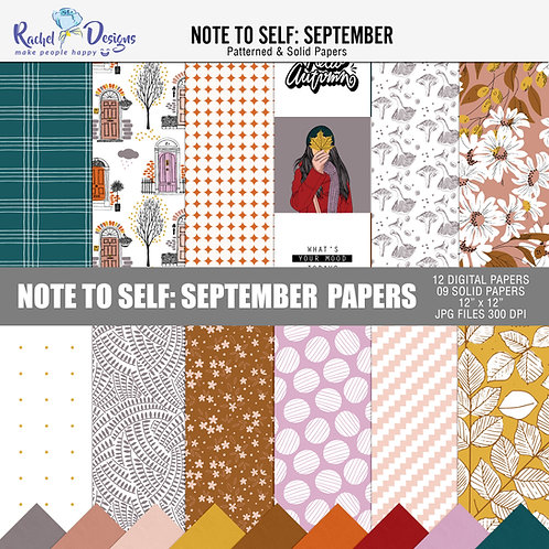 Note To Self September - Papers