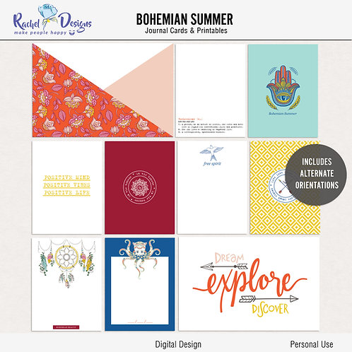 Bohemian Summer - Journal cards