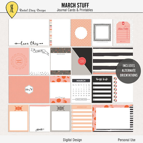 March Stuff - Journal cards