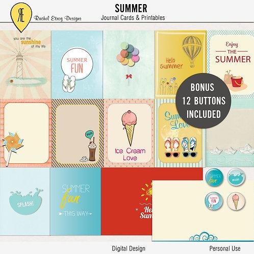 Summer Journal Cards