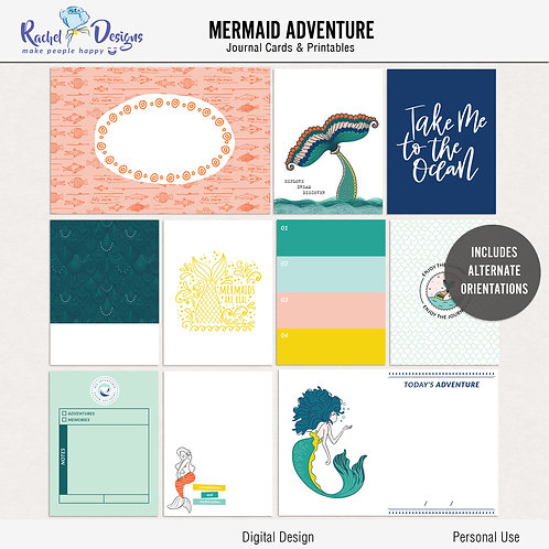 Mermaid adventure - Journal cards