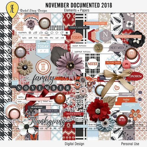 November Documented 2018 Full Kit