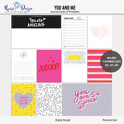 You And Me - Journal cards