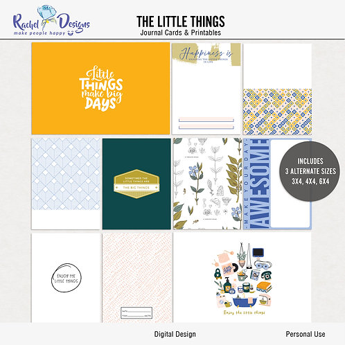 The Little Things - Journal cards