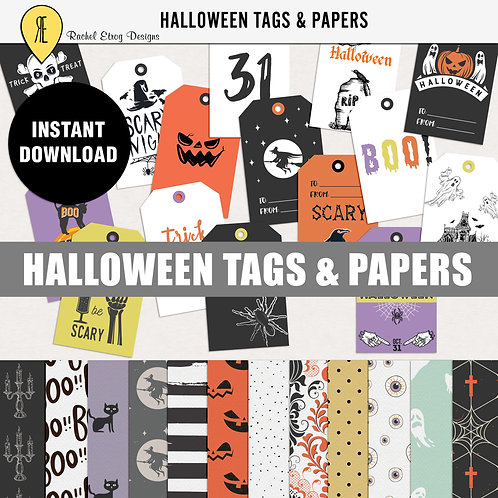 Halloween Tags & Papers