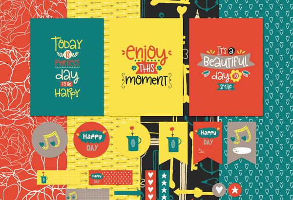 Enjoy Each Moment - February Pixel Scrapper Blog Train