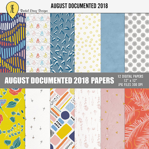 August Documented 2018 - Papers