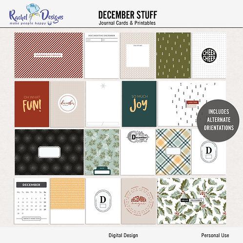 December Stuff - Journal cards