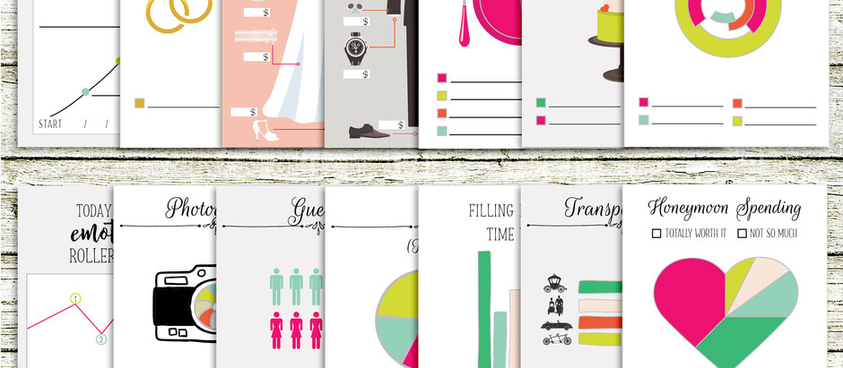 Wedding Charts - journal cards