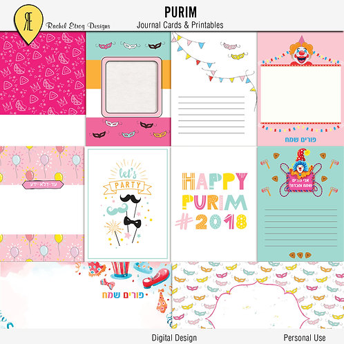 Purim - Journal cards