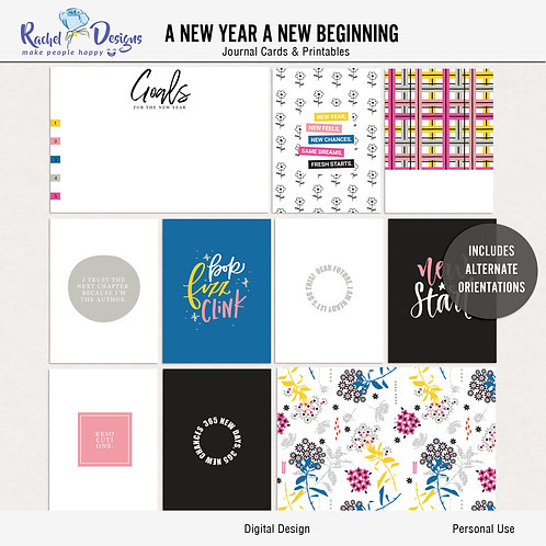 A New Year A New Beginning - Journal cards