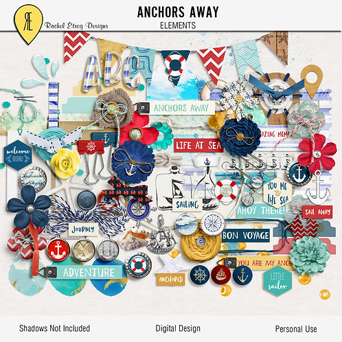 Anchors Away - Digital Scrapbooking Elements