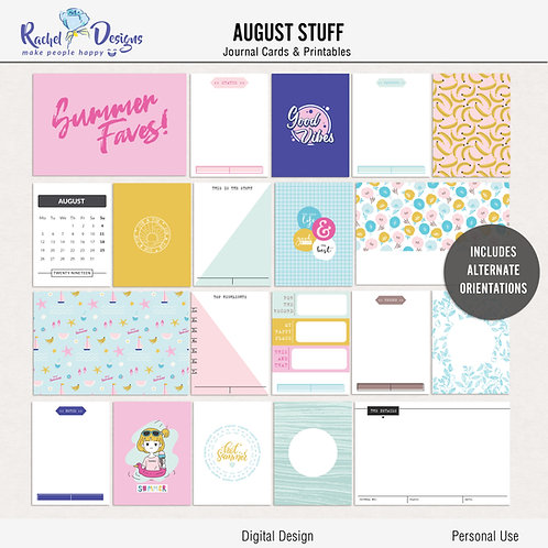 August Stuff - Journal cards