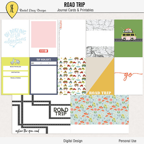 Road Trip - Journal cards