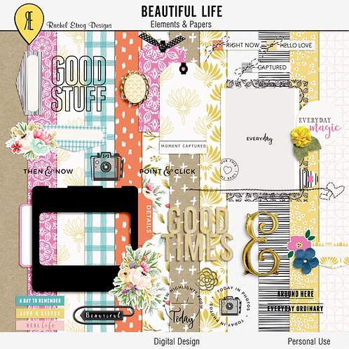 Beautiful Life - Digital Scrapbooking Full Kit