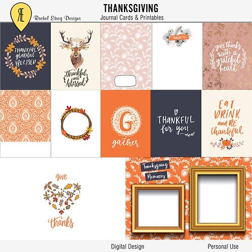 Thanksgiving Journal Cards