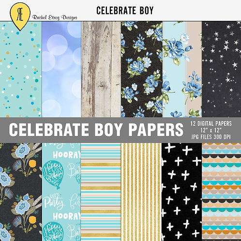 Celebrate Boy Papers