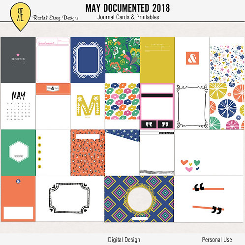 May documented 2018 - Journal cards