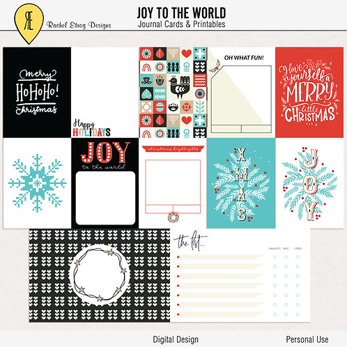 Joy To The World - Journal cards