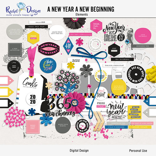 A New Year A New Beginning - Elements