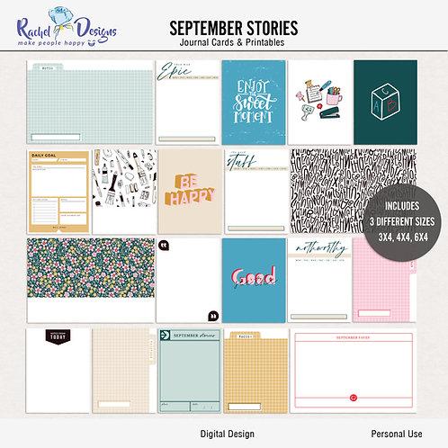 September Stories - Journal cards