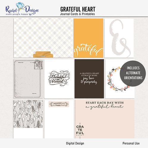 Grateful Heart - Journal cards