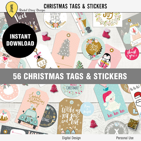 56 Christmas Tags And Stickers