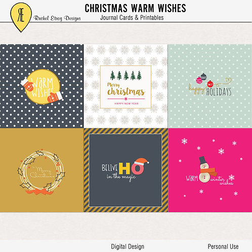 Christmas Warm Wishes Journal Cards