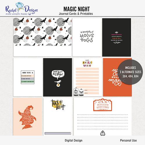 Magic Night - Journal cards