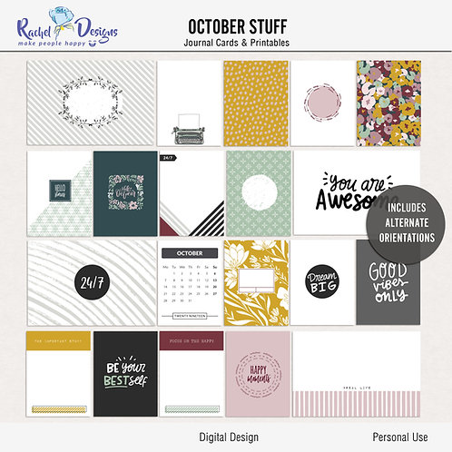 October Stuff - Journal cards