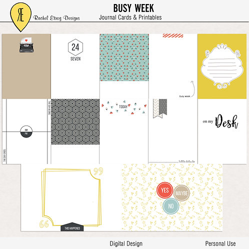 Busy Week - Journal cards