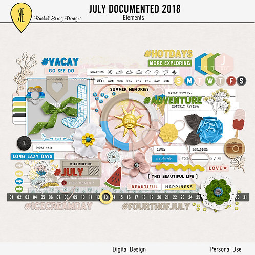 July Documented 2018 - Elements