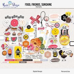 Food, Friends, Sunshine - Elements