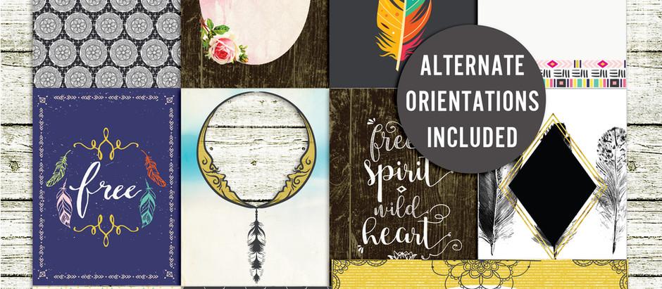 Free Spirit - Journal cards