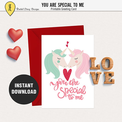 You are special to me  - Greeting card