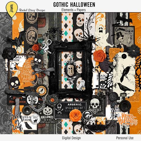 Gothic Halloween - Digital Scrapbooking Full Kit