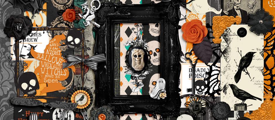 Shop Updade - Gothic Halloween scrapbook kit