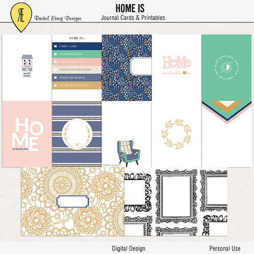Home Is - Journal cards