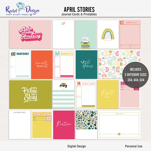April Stories - Journal cards