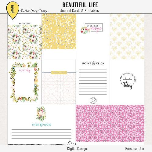 Beautiful Life - Journal Cards