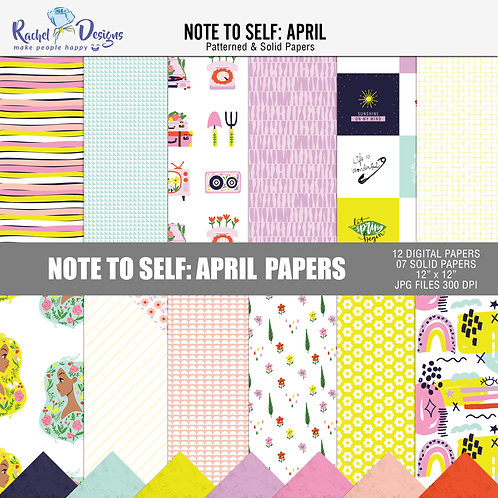 Note To Self April - Papers