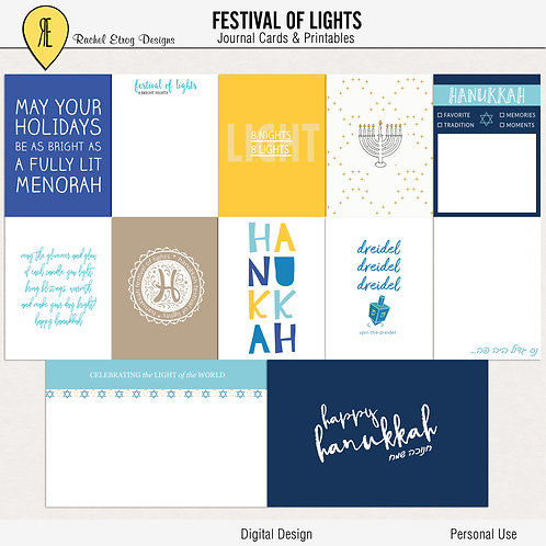 Festival of lights - Journal cards