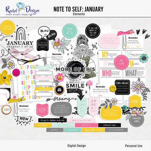 Note To Self January - Elements